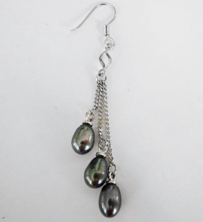 Natural Freshwater Pearl Pear Shape Earrings Dangle - 2