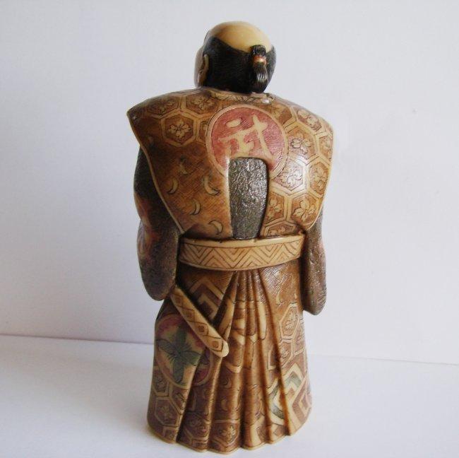 "Japanese Samurai Bones Carved H 5""x W 2.25""x Thic1.75"" - 3"
