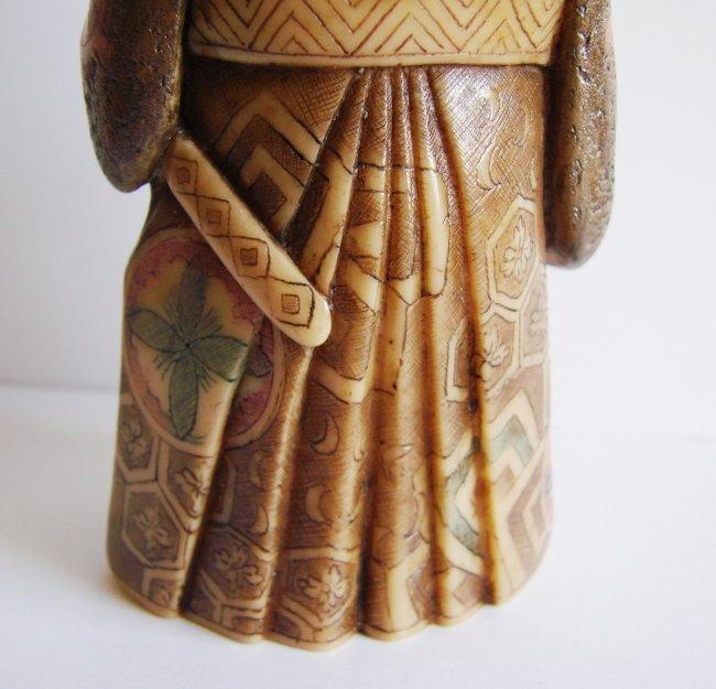 "Japanese Samurai Bones Carved H 5""x W 2.25""x Thic1.75"" - 6"