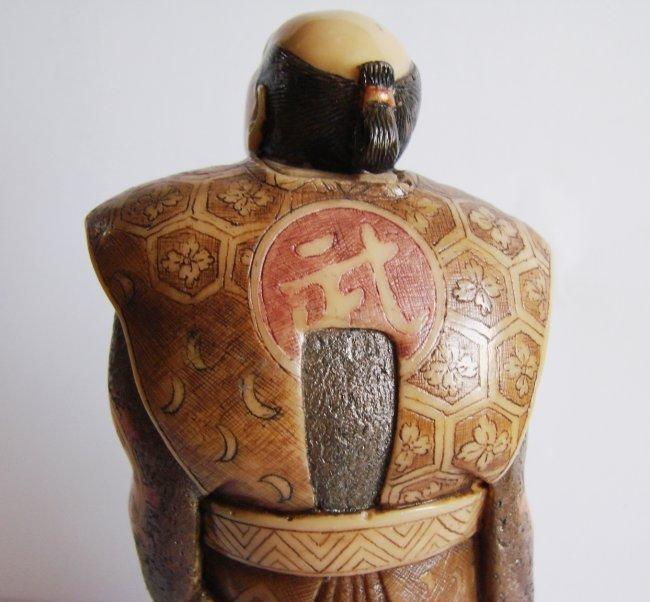 "Japanese Samurai Bones Carved H 5""x W 2.25""x Thic1.75"" - 7"