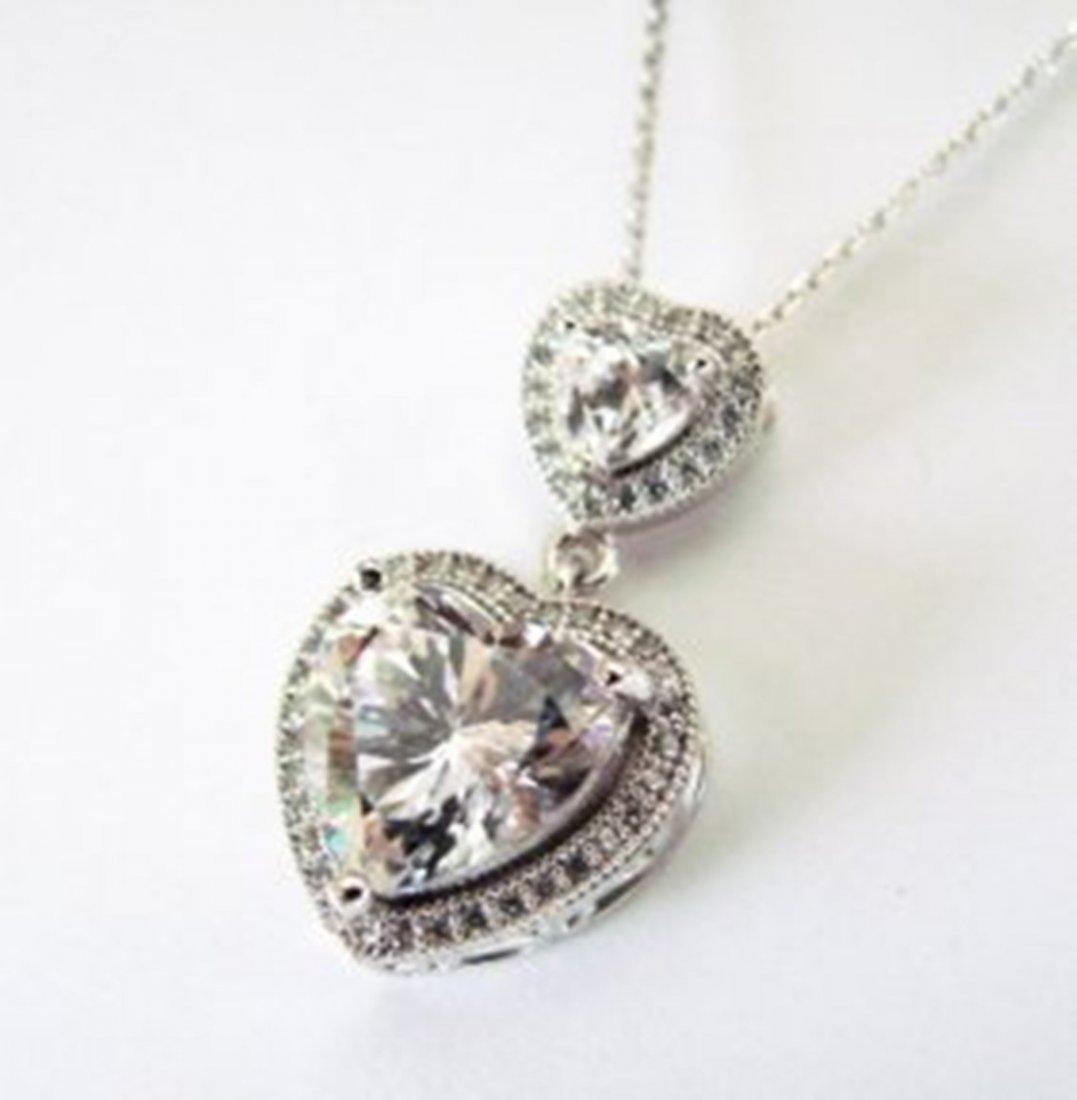 Creation Diamond Pendant 5.47Ct 18k W/g Overlay - 2