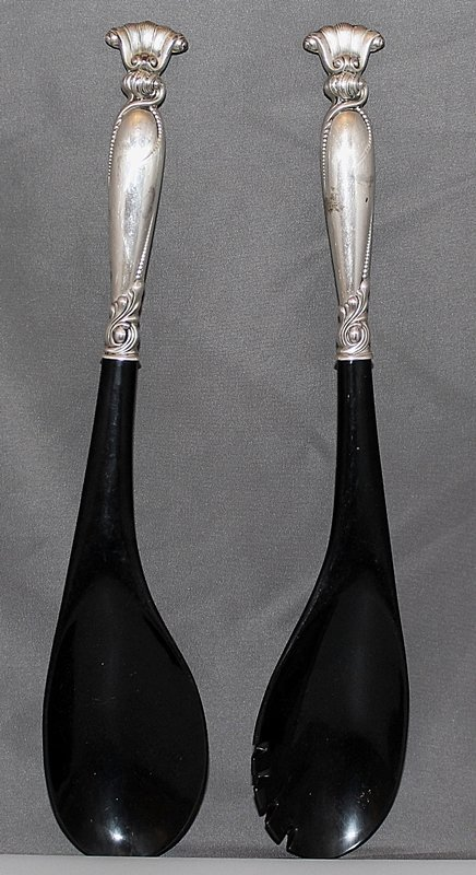 WALLACE ROMANCE OF THE SEA STERLING SALAD SERVING SET