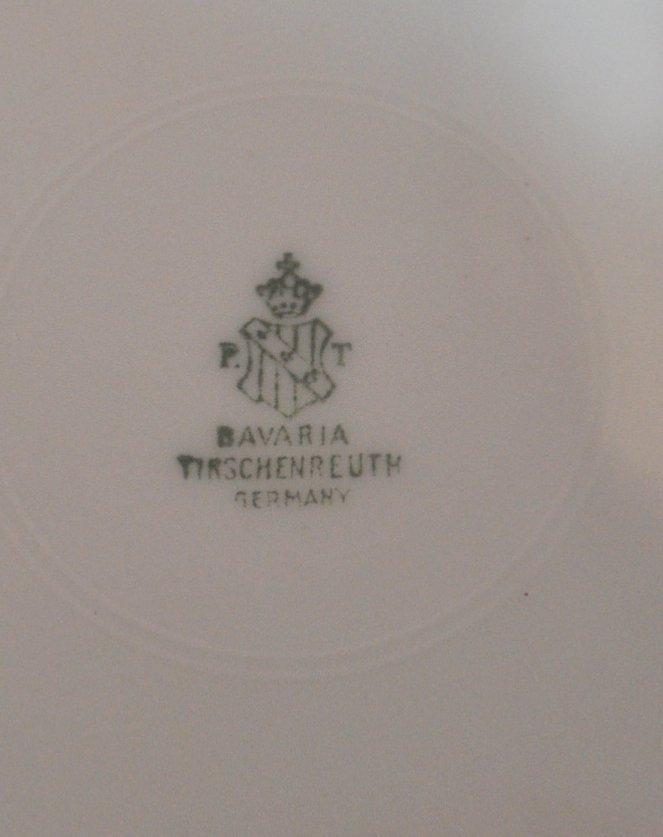 8 TIRSCHENREUTH HP 1930 RAINBOW FLORAL PORCELAIN PLATES - 7