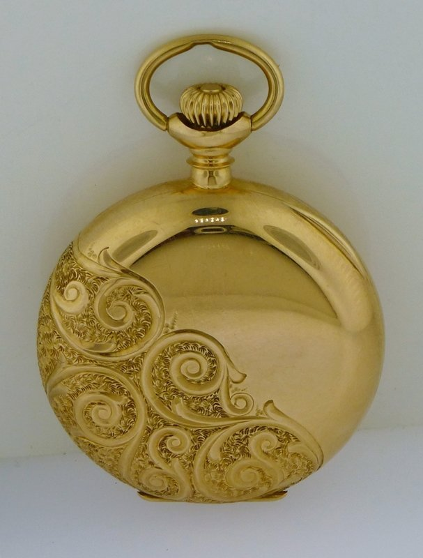 ELGIN 1916 14k GOLD ORNATE HUNTER CASE POCKET WATCH