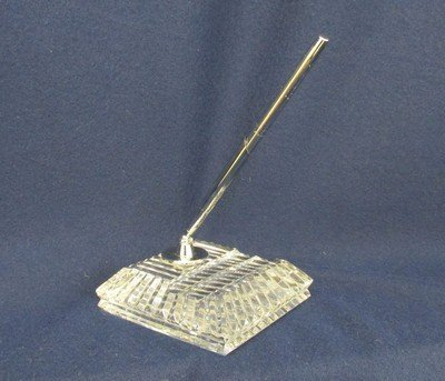 SGND WATERFORD CUT CRYSTAL PEN HOLDER PAPERWEIGHT XJ