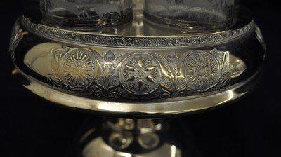 MIDDLETOWN 1885+ QUADRUPLE SILVER PLATE CRUET SET XW - 10