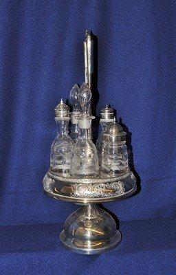MIDDLETOWN 1885+ QUADRUPLE SILVER PLATE CRUET SET XW - 3