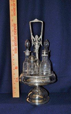 MIDDLETOWN 1885+ QUADRUPLE SILVER PLATE CRUET SET XW - 5