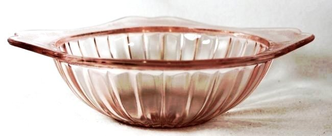 1932-34 JEANNETTE ADAM 7.75 IN PINK DEPRESSION BOWL XW