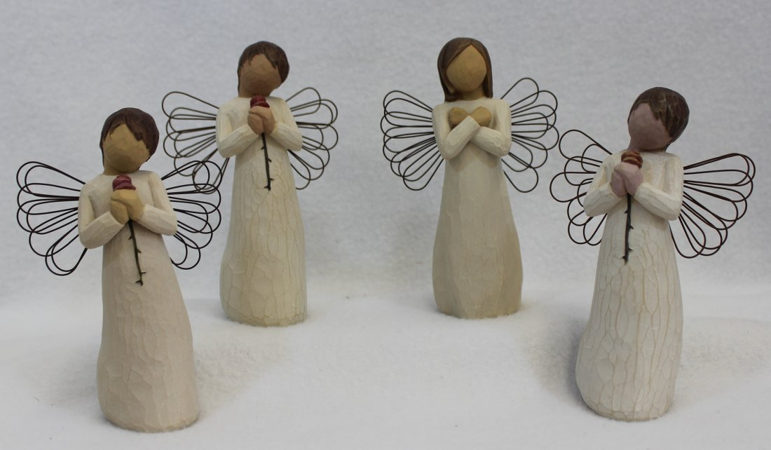 LOT of 4 MIB WILLOW TREE ANGELS SIGN FOR LOVE LOVING XT