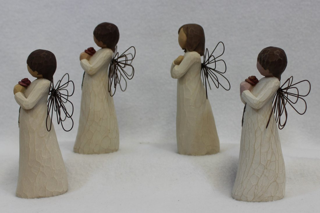 LOT of 4 MIB WILLOW TREE ANGELS SIGN FOR LOVE LOVING XT - 3