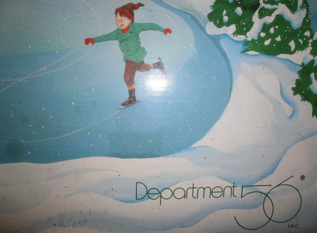 DEPT 56 VILLAGE ANIMATED ICE SKATING POND / RINK  XC - 5