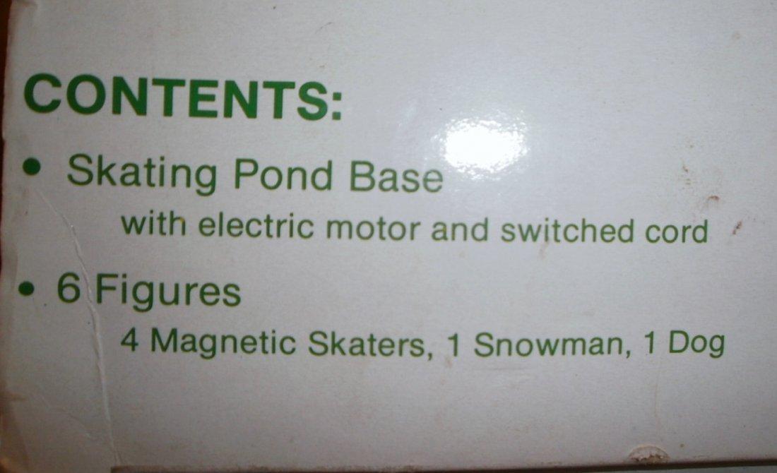 DEPT 56 VILLAGE ANIMATED ICE SKATING POND / RINK  XC - 6