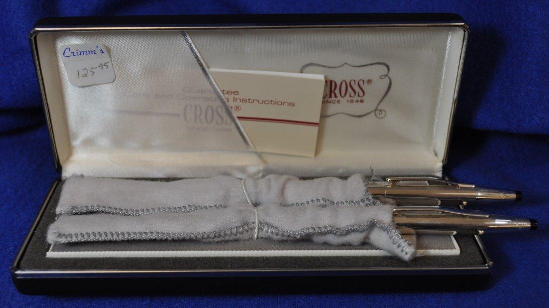 CROSS STERLING SILVER PEN PENCIL SET W BOX XW