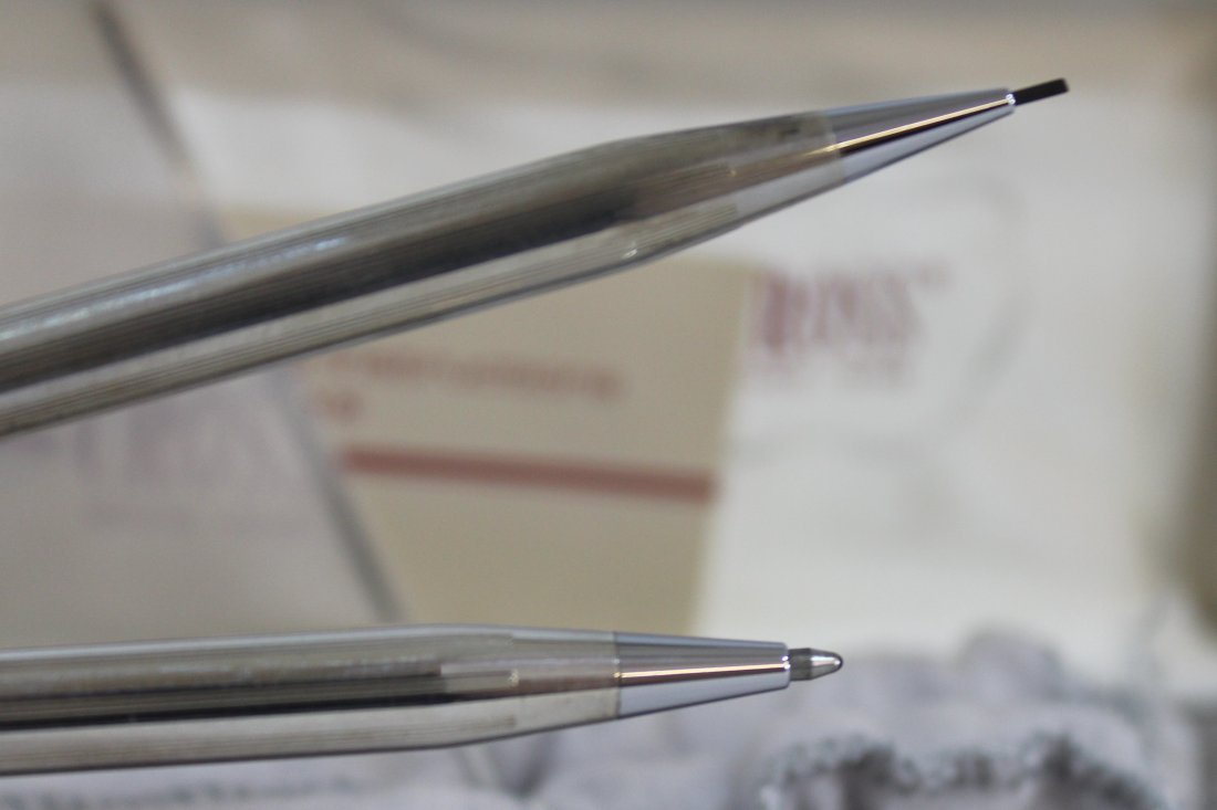 CROSS STERLING SILVER PEN PENCIL SET W BOX XW - 7