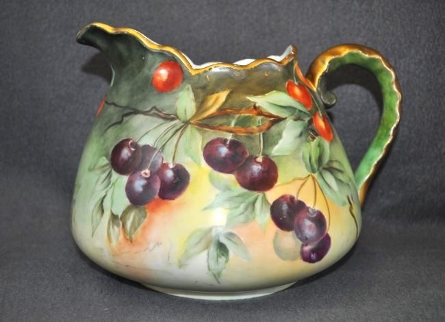 RARE 1902+ JAEGER BAVARIAN HD PAINTED CIDER PITCHER XW