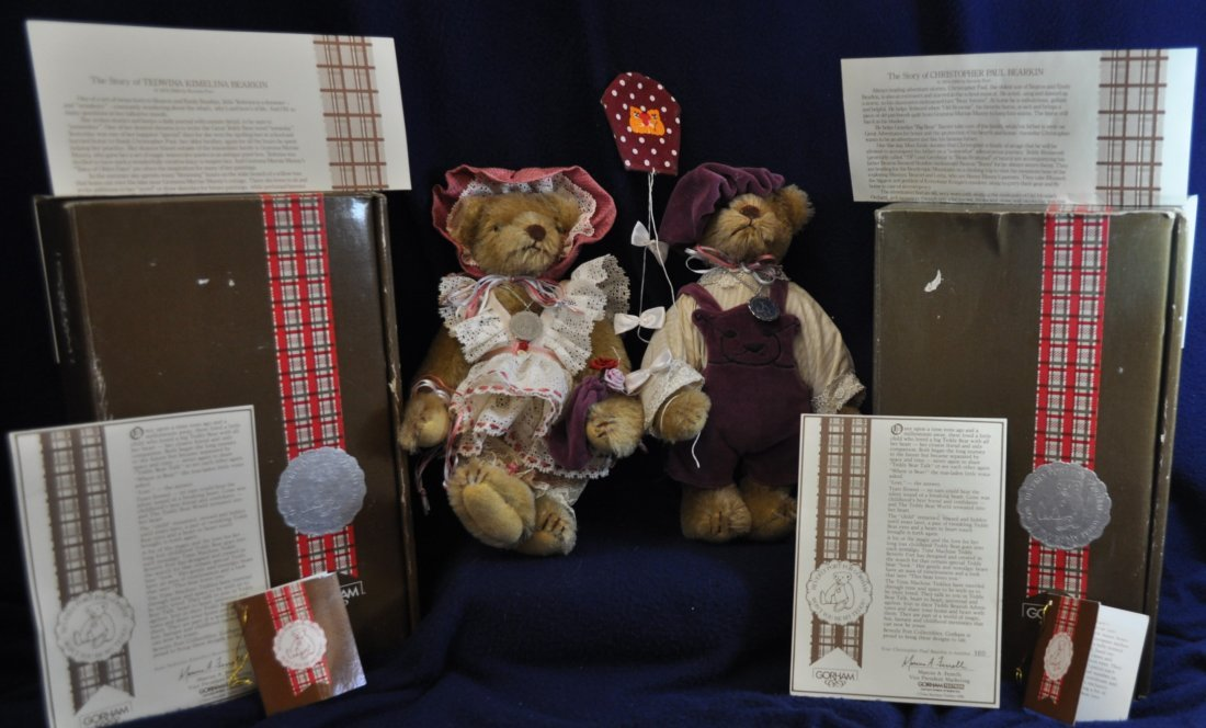 GORHAM BEARKIN TEDDY BEAR TEDWINA & CHRISTOPHER PAUL XK