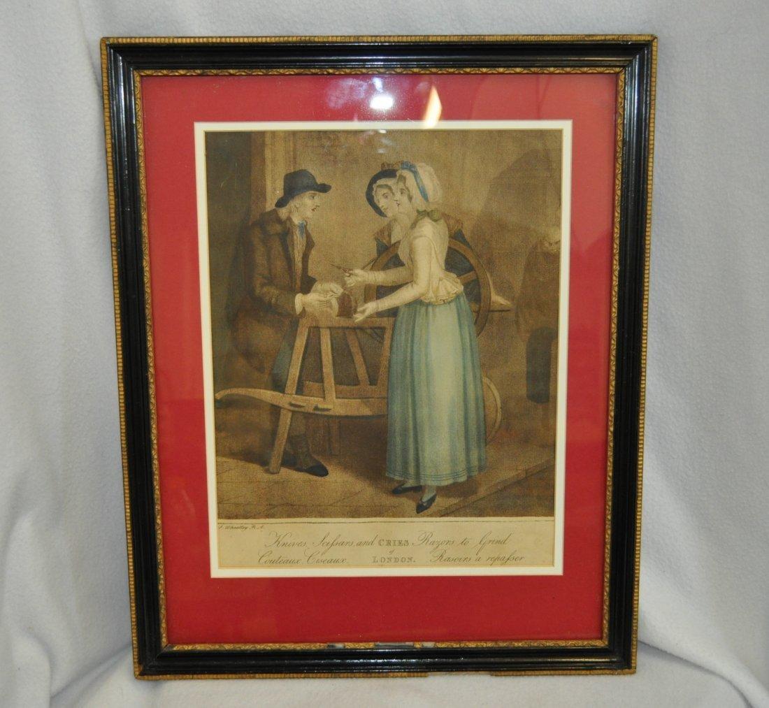 LONDON 1850s COLORED CROMO-LITHOGRAPH XJ