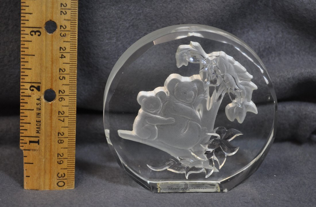 WILDLIFE CRYSTALS PAPERWEIGHTS 11 PCS DANBURY MINT XK - 10