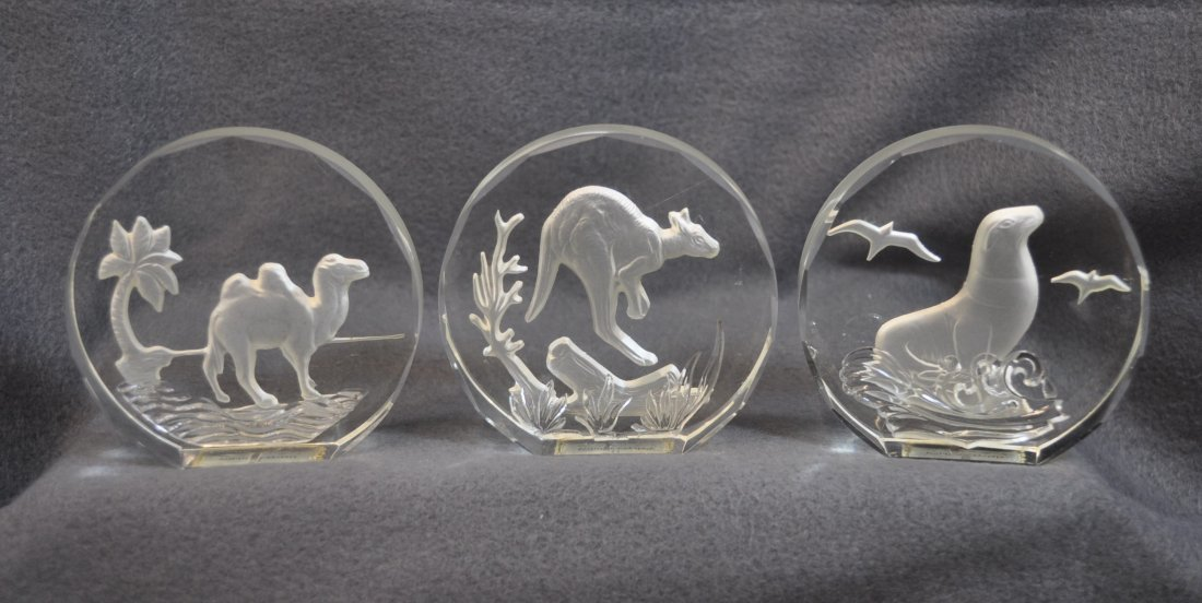 WILDLIFE CRYSTALS PAPERWEIGHTS 11 PCS DANBURY MINT XK - 4
