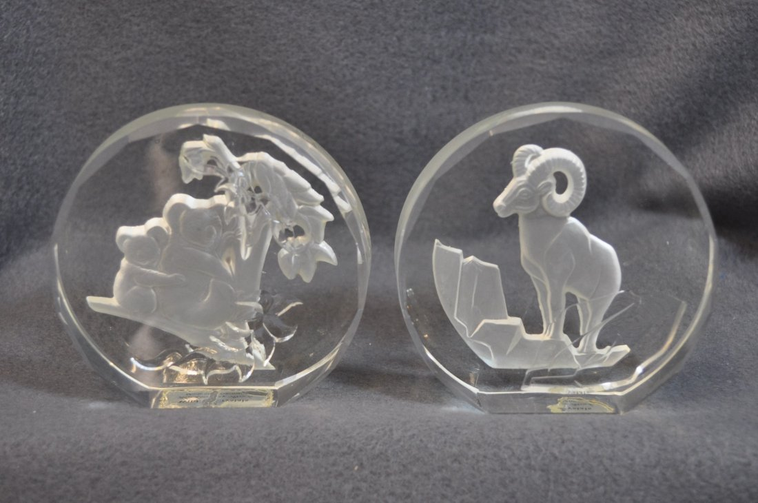 WILDLIFE CRYSTALS PAPERWEIGHTS 11 PCS DANBURY MINT XK - 5