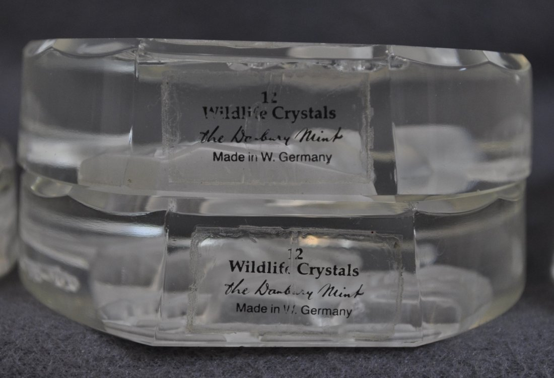 WILDLIFE CRYSTALS PAPERWEIGHTS 11 PCS DANBURY MINT XK - 7