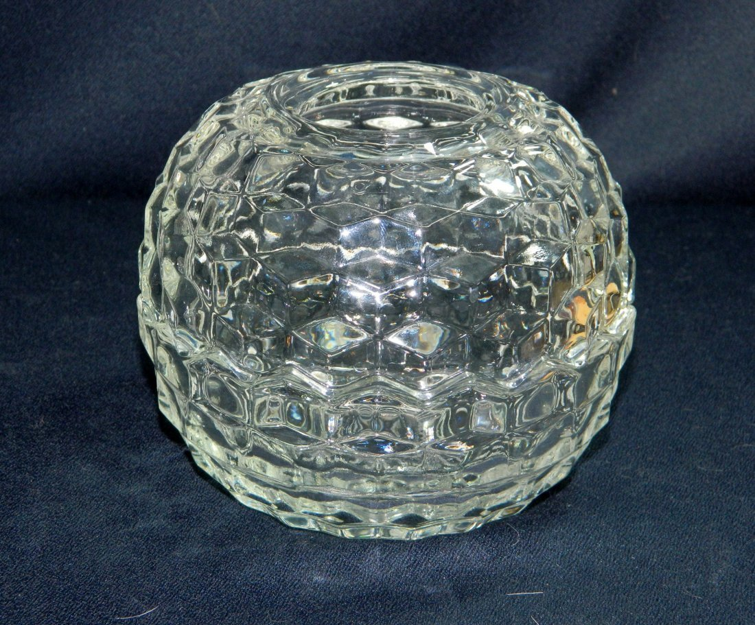 3pc FOSTORIA AMERICAN GLASS WINDSOR FAIRY LAMP CANOE XR - 2