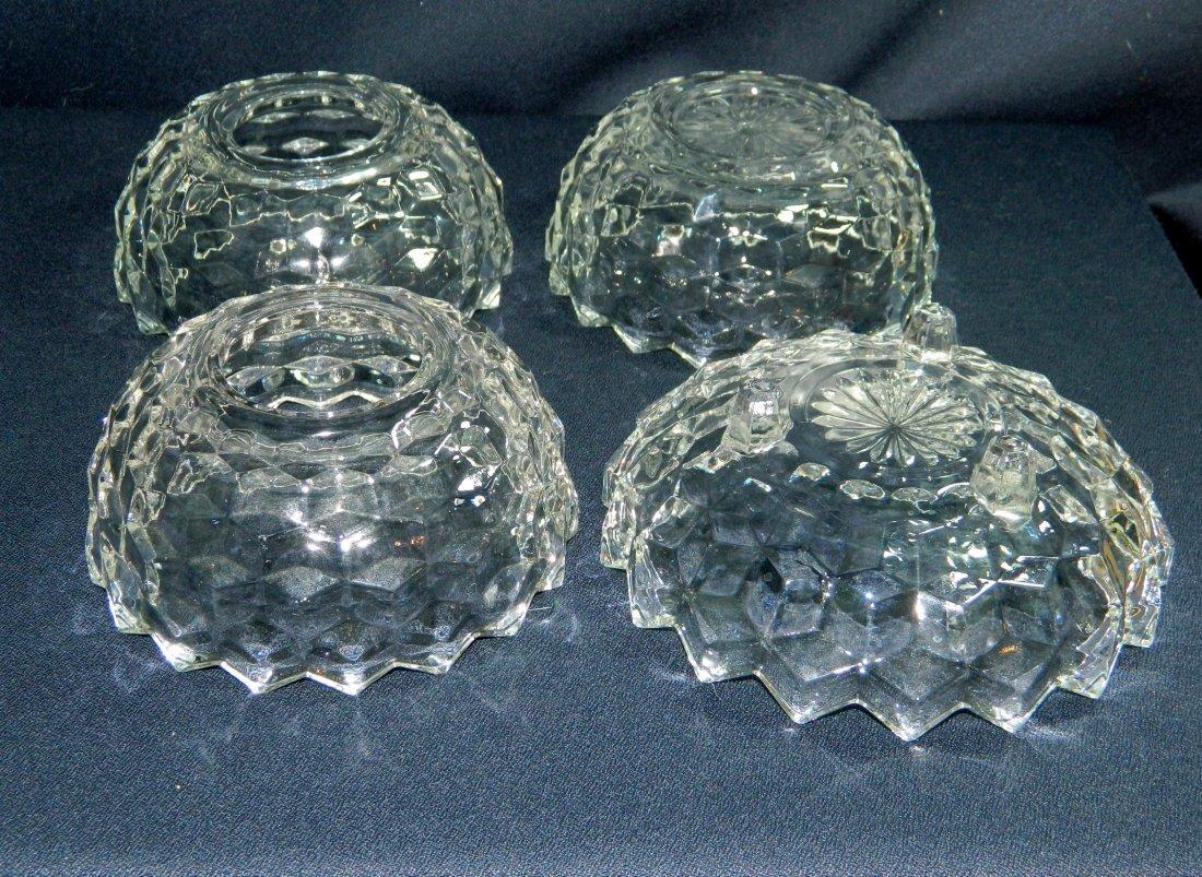 3pc FOSTORIA AMERICAN GLASS WINDSOR FAIRY LAMP CANOE XR - 5