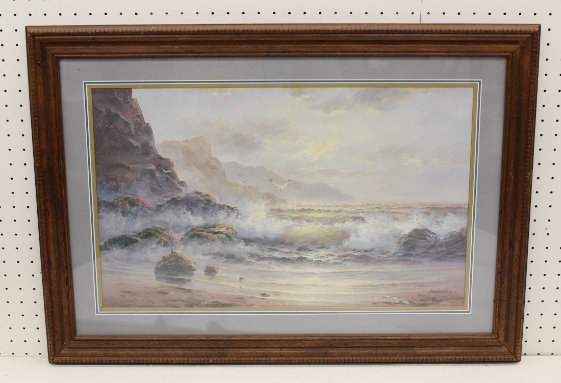 MUSEUM FRAMED LITHO LUMINOUS WAVES BY BOB SANDERS XW