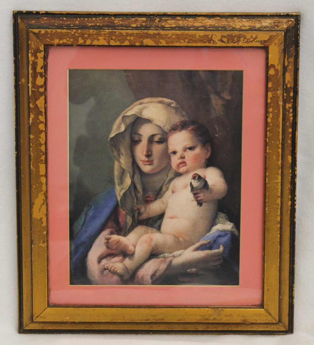 FRAMED MADONNA OF THE GOLDFINCH GIOVANNI TIEPOLO XJ