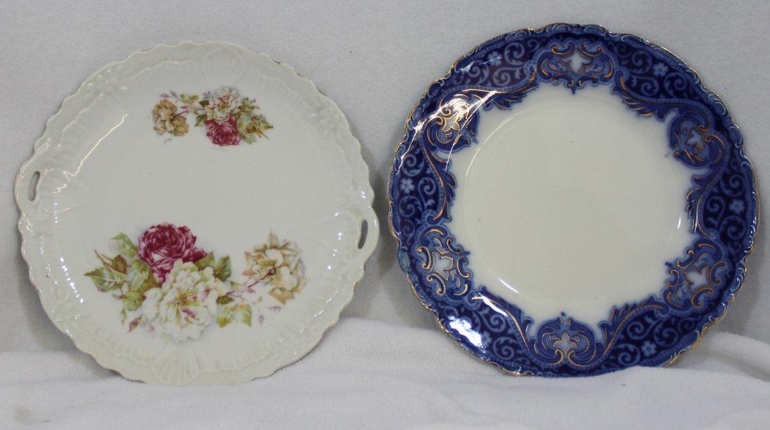 1908 JOHNSON BROS TOKIO FLOW BLUE TRANSFER CAKE PLTS XW