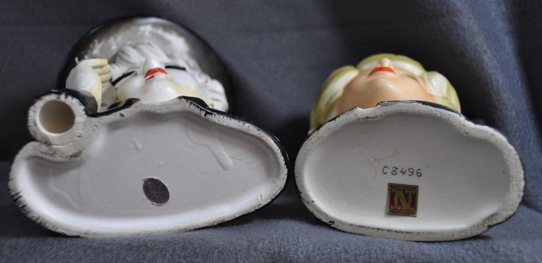 1960s TILSO, NAPCOWARE JAPANESE PORCELAIN HEAD VASES XW - 6