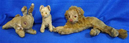 VINTAGE COLLECTION OF STEIFF CRITTER STUFFED ANIMALS XC