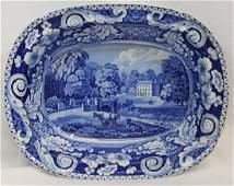 RARE 1820 JOHN RICHARD RILEY FLOW BLUE DALGUISE BOWL XG
