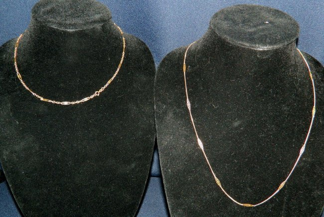 14k 18k GOLD NECKLACES ITALY BALESTRA 10grams XR