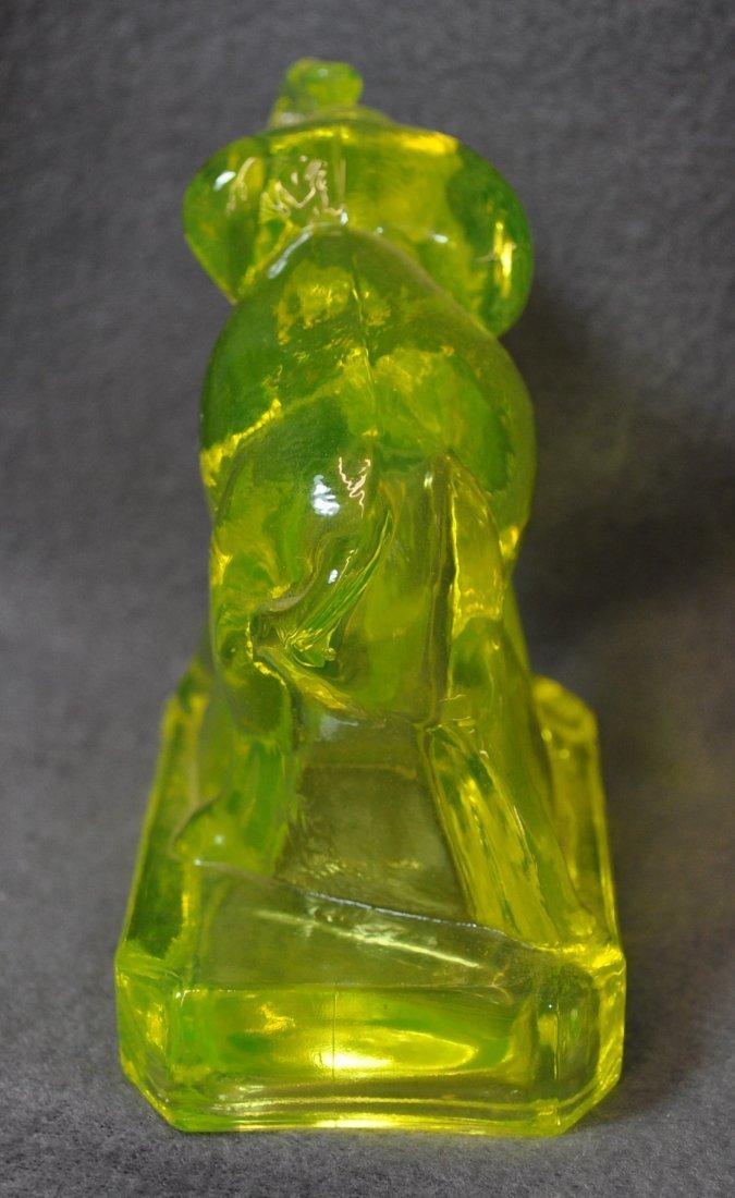 1980s BOYD ART GLASS VASELINE  ZACK THE ELEPHANT XV - 6