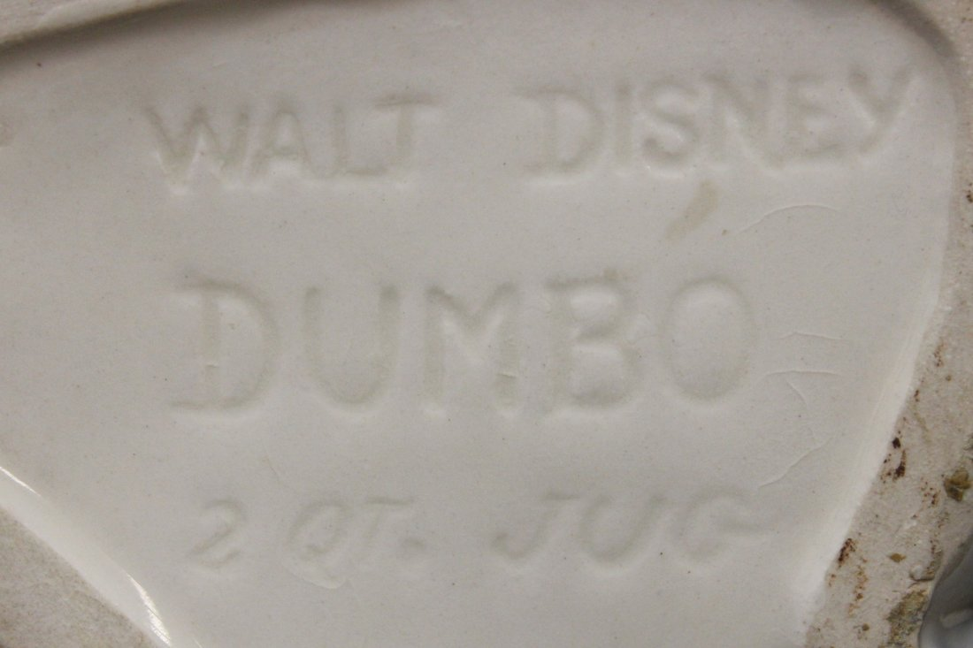 RARE ORIGINAL AMERICAN BISQUE DISNEY DUMBO JUG 2 QT XW - 10