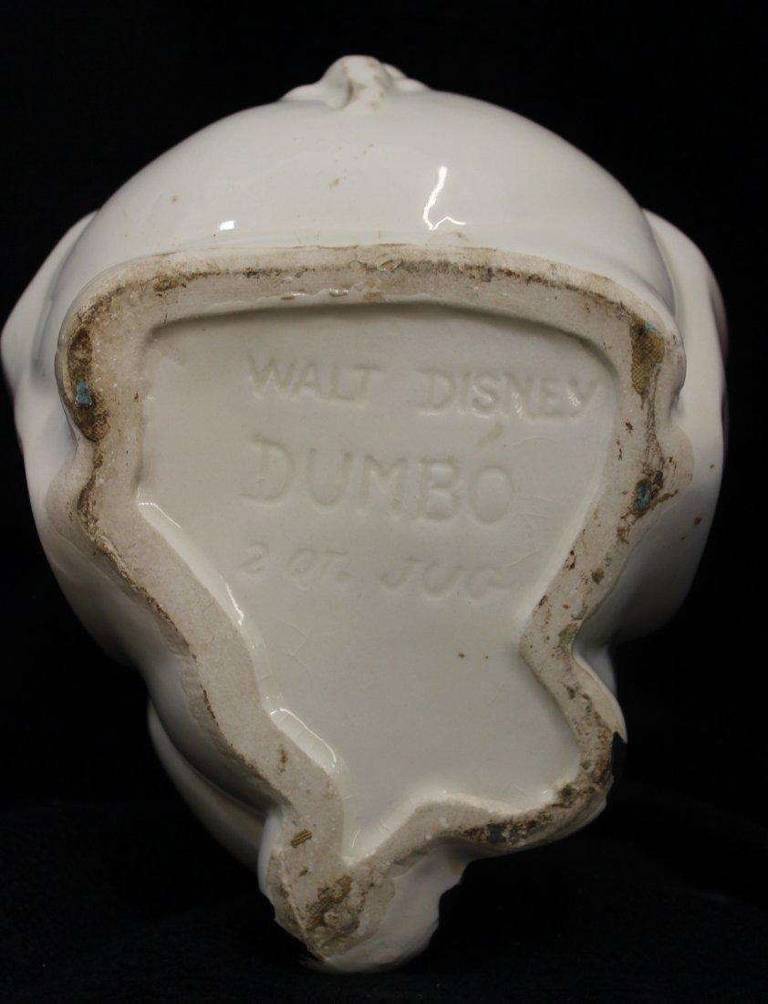 RARE ORIGINAL AMERICAN BISQUE DISNEY DUMBO JUG 2 QT XW - 9