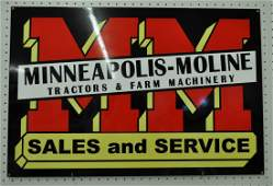 NOS DBL SIDED MOLINE TRACTORS FARM 30x20  IN AD SIGN XT