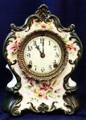 1890s ANSONIA ROYAL BONN WINNIPEG PORCELAIN CLOCK