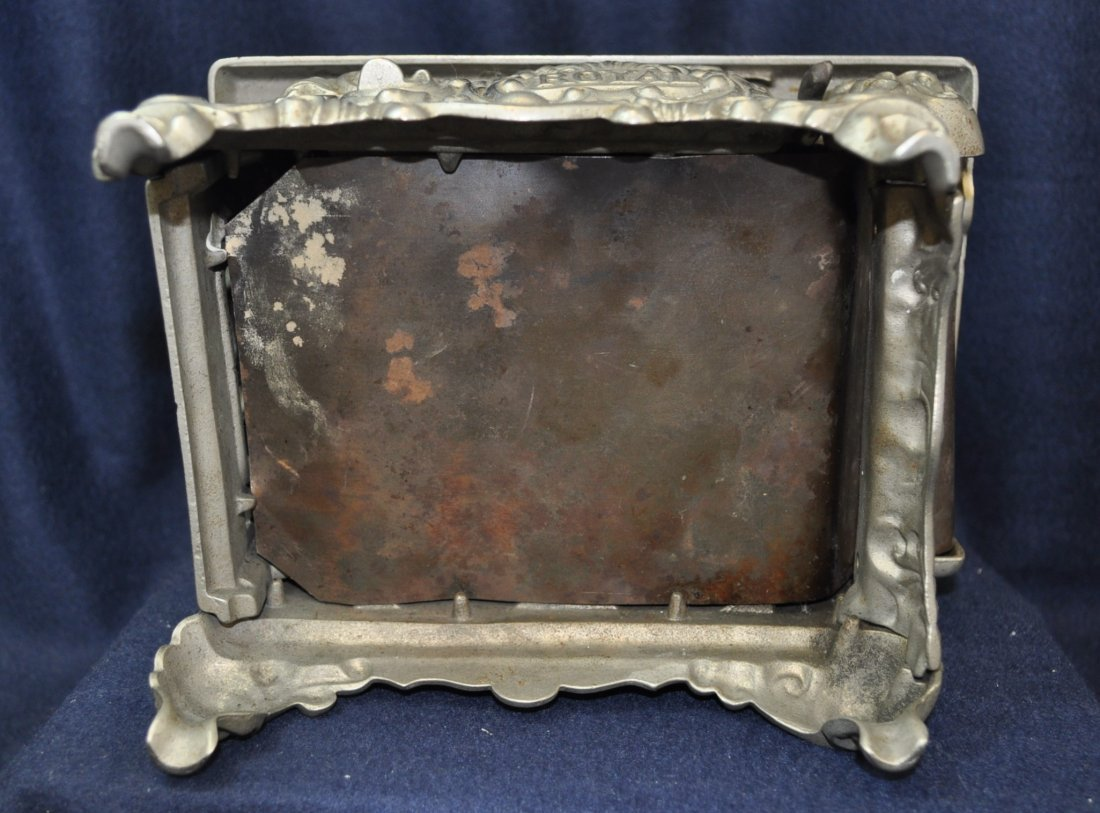 ANTIQUE CAST IRON TOY SILVER ROYAL WOOD STOVE - 10