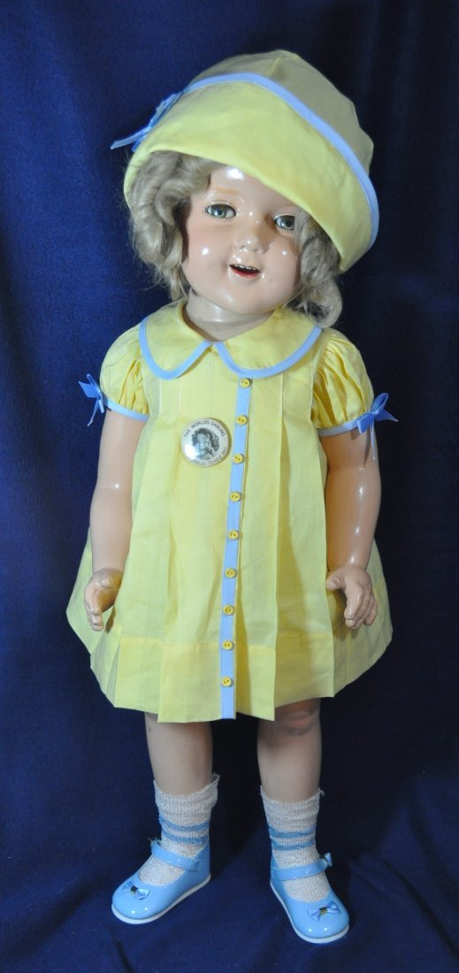 """25"""" IDEAL 1935 LITTLE COLONEL SHIRLEY TEMPLE DOLL"""