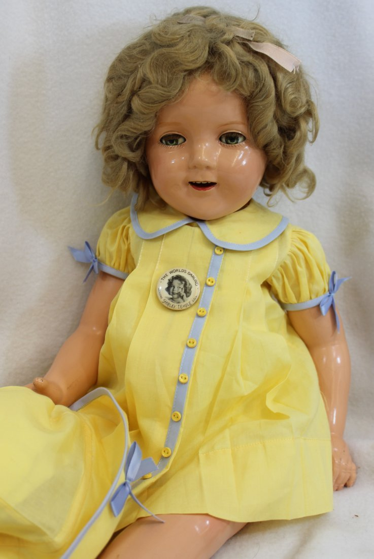 """25"""" IDEAL 1935 LITTLE COLONEL SHIRLEY TEMPLE DOLL - 3"""