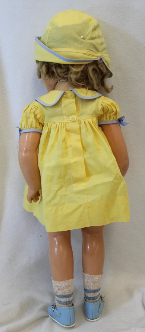 """25"""" IDEAL 1935 LITTLE COLONEL SHIRLEY TEMPLE DOLL - 6"""