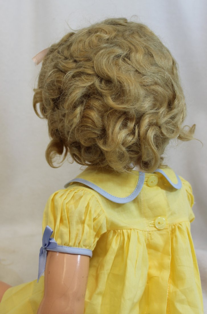 """25"""" IDEAL 1935 LITTLE COLONEL SHIRLEY TEMPLE DOLL - 7"""
