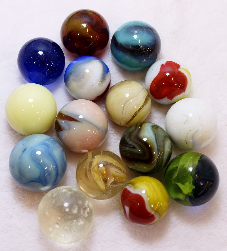 1890s-1930s HAND BLOWN, CANE CUT, MACHINE MADE MARBLES