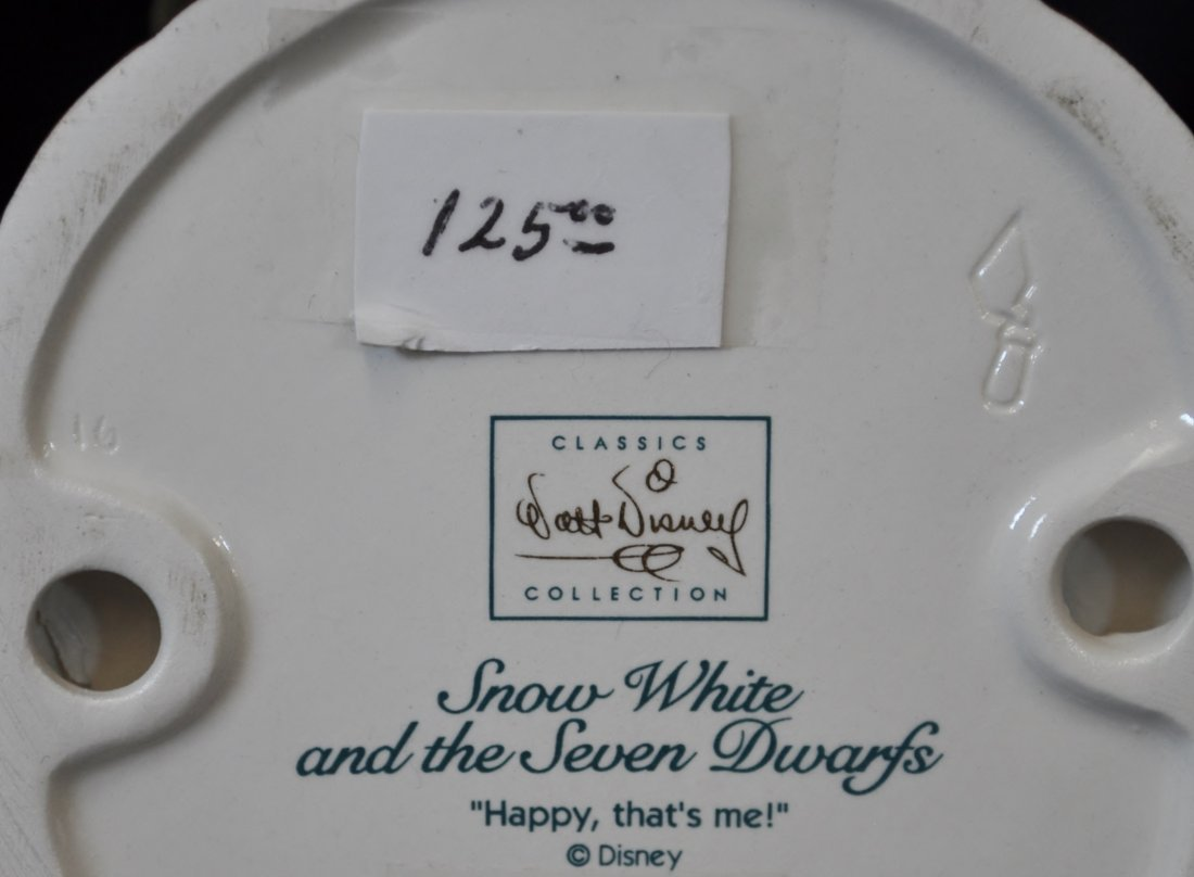WALT DISNEY 5 FIGURINES SNOW WHITE 7 DWARFS WDCC - 8