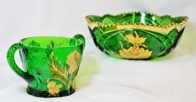 1910 Cambridge Near Cut Thistle, Riverside Gilded Bowls