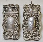ANTIQUE (2) 1895-10 STERLING KINGS CROWN MATCH VESTAS