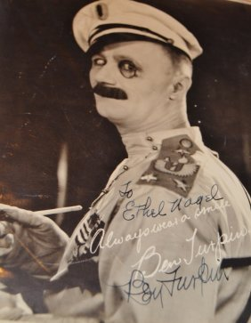 Rare 1920's Ben Turpin Autograph With Provenance